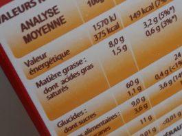 Des informations nutritionnelles