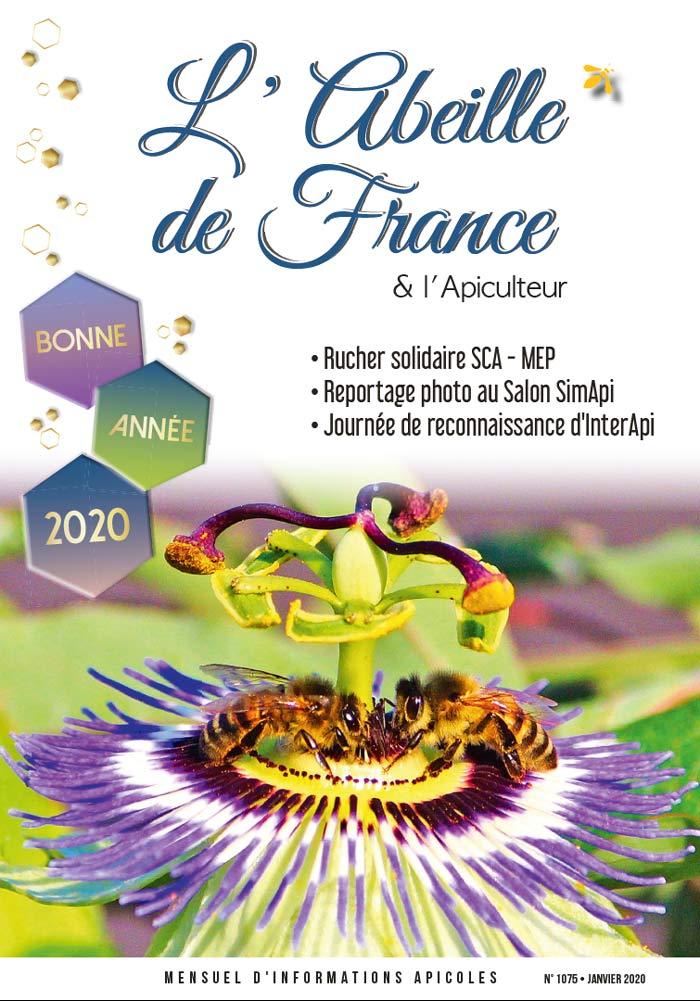 Couverture de l'Abeille de France janvier 2020